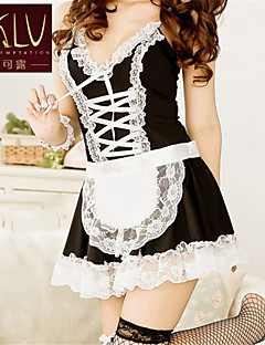 SKLV Women's Lace/Polyester Housemaid Uniforms & Cheongsams/Lace Lingerie/Ultra Sexy/Suits Nightwear