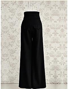 Vintage / Feest / Casual - Polyester / Chiffon / Microvezel - Micro-elastisch - Bootcut - Broek - Vrouwen