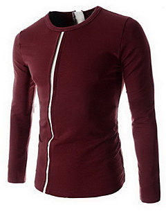 naizirun weisekontrastfarbe kausalen Langarm-Shirt