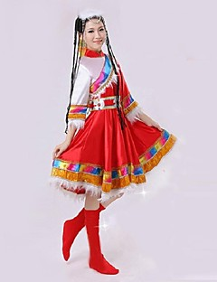 Folk Dance Performance Women's Polyester Folk Dance Performance Outfit(More Colors)