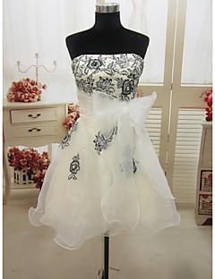 Formal Evening/Wedding Party Dress A-line Strapless Short/Mini Organza Dress