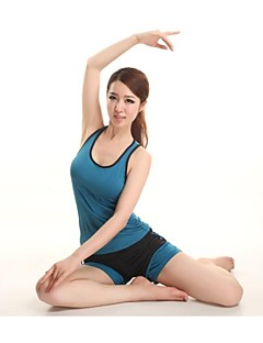 Dames Yoga Kleding Bovenlichaam / Kleding Onderlichaam / Pakken / Ves / Trainingspak / Compression Suit MouwloosAdemend / Hoge Ademende