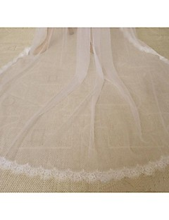 One-tier - Lace Applique Edge Cathedral Veils ( Ivory , Embroidery )