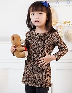Girl's Summer/Spring/Fall Micro-elastic Medium Long Sleeve Dresses (Cotton)