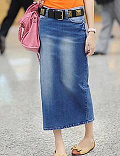 Jupe Aux femmes Sexy / Décontracté Coton / Toile de jean