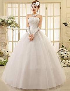 Ball Gown Wedding Dress Ankle-length Strapless Lace with