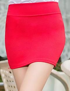 Women's Sex Pure Color Mini Skirt