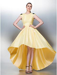 TS Couture Dress - Daffodil Plus Sizes / Petite A-line Jewel Asymmetrical Taffeta
