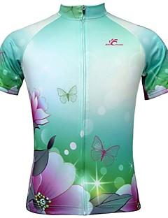JESOCYCLING Cykel/Cykling Trøje / Toppe Dame Kort Ærme Åndbart / Ultraviolet Resistent / Hurtigtørrende / Tilbage Pocket 100% Polyester