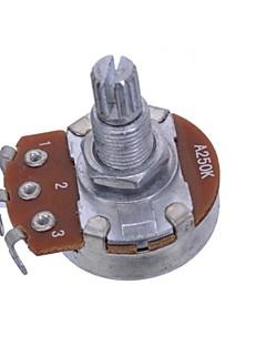 A250K Short Split Shaft 15mm Guitar Pots Potentiometer For Guitar Part Full Size 20PCS/LOT
