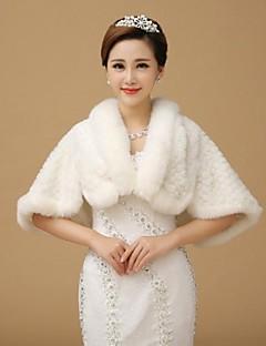 piel envuelve estolas de lana sin mangas blanco