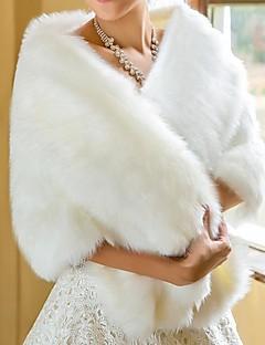 fur envolve xales de noiva do casamento do inverno