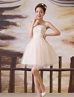 Ball Gown Short/Mini  Wedding Dress -Strapless Tulle