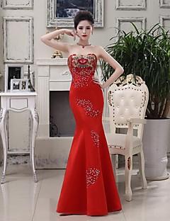 Formal Evening Dress Trumpet/Mermaid Strapless Floor-length Satin