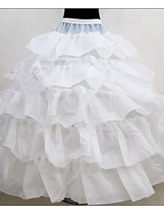 Spodničky Plesový střih Na zem 5 Polyester Biały