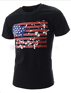 MEN - 캐쥬얼 원형 - 짧은 소매 - 티셔츠 ( 혼합면 )