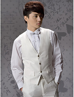 Ivory Cotton Tailorde Fit Vest