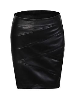 Women Lambskin Skirts  Genuine Leather jacket