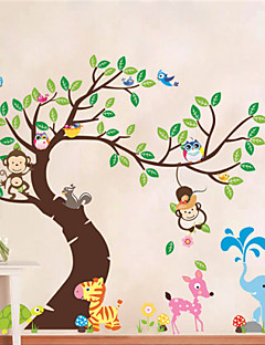 Animals / Botanical / Shapes Wall Stickers Plane Wall Stickers , PVC 60*90*0.2cm (23.6*35.4*0.079inch)