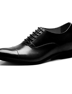 Men's Shoes Wedding Calf Hair Oxfords Elevator Shoes