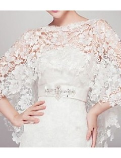 Wedding  Wraps Capelets Sleeveless Lace Ivory