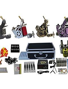 4 kanoner komplet tatovering kit med gratis gave af 20 tatoveringsfarver