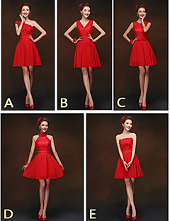 Mix & Match Dresses Short/Mini Chiffon and Lace 5 Styles Bridesmaid Dresses (2840151)