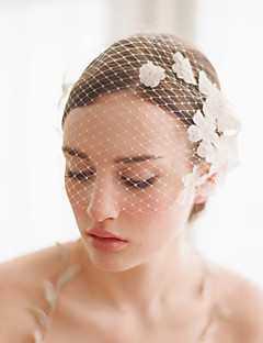 Wedding Veil One-tier Blusher Veils/Veils for Short Hair/Birdcage Veils Cut Edge