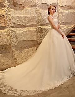 Abito da sposa - Avorio Palloncino Con bretelline Strascico da cattedrale Tulle