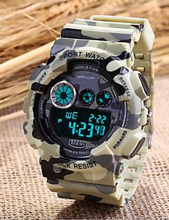 Pánské Sportovní hodinky Vojenské hodinky Módní hodinky Náramkové hodinky Křemenný Plastic Kapela Šedá Béžová Šedá Červená