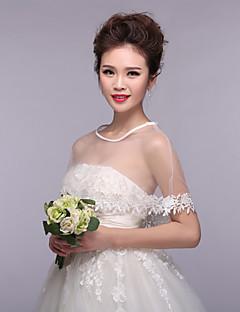 Wedding  Wraps Capelets Sleeveless Lace/Tulle Ivory