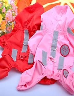 Hunde Regenmantel Rot / Rosa / Rose Hundekleidung Sommer Klassisch Wasserdicht / Cosplay