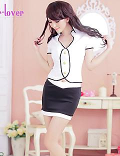 Women Cotton Blends/Polyester/Spandex Uniforms & Cheongsams/Babydoll & Slips/Robes/Ultra Sexy/Suits Nightwear