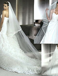 2.5 Meters Of Wedding Veil New Bride Serging Veil Trailing White Veil Veil Long Two Layers Of Accessories