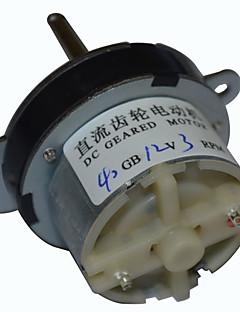 40 milímetros dc 12v 3rpm alto torque caixa de velocidades do motor elétrico