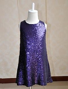 Flower Girl Dress Short/Mini Silk/Sequined A-line Sleeveless Dress