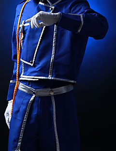 Inspired by Fullmetal Alchemist Roy Mustang Anime Cosplay Costumes Cosplay Suits Solid Blue Coat / Pants / Scarf