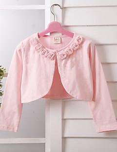 kinderen wraps met lange mouwen kant / polyester zoete mooie roos party / casual bolero wit / roze bolero schouderophalen