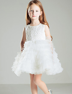 Galajurk Korte broek / Mini Bloemenmeisje jurk - Satijn Mouwloos