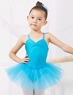 Ballet Dresses&Skirts/Tutus & Skirts/Dresses Children's Performance/Training Spandex/Tulle 1 PieceApple Green/Light Kids Dance Costumes