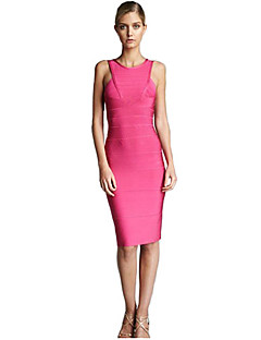 Alice&Elmer Rayon Short/Mini Jewel Sheath/Column Bandage Dress