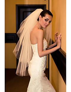 Wedding Veil Three-tier Wrist Veils Cut Edge