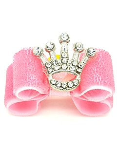 Cat Dog Hair Bow Hair Accessories Pink Dog Clothes Summer Spring/Fall Tiaras & Crowns Holiday Birthday