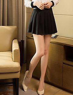 Kvinders Hverdag Over knæet Nederdele Uelastisk Chiffon/Polyester