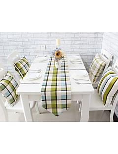 """style européen de haute qualité angleterre impression de grille de table en coton coureur (12 """"x63"""")"""
