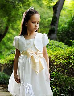 børn wraps satin / polyester fest / afslappet mode sød sløjfe boleroer hvid bolero skuldertræk