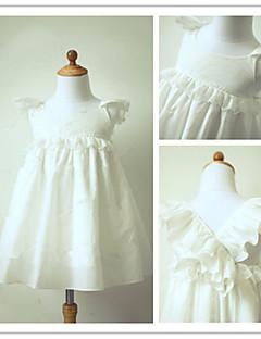 Blumenmädchen Kleid - Taft - A-Linie - wadenlang - Kurze Ärmel