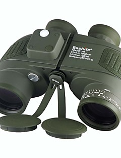 Boshile 10X50 Waterproof Night Vision Navy Binoculars Telescope with Rangefinder and Compass US Army Green