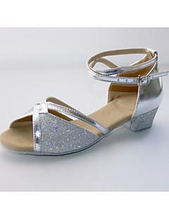 Chaussures de danse (Bleu/Rose/Argent/Or) - Non personnalisable - Talon plat - Similicuir/Paillette - Danse latine