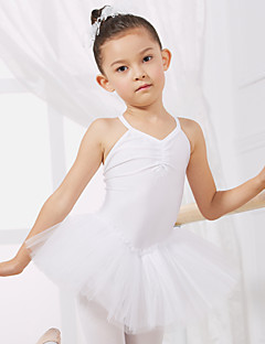 Ballet Dresses&Skirts/Tutus & Skirts/Dresses Children's Performance/Training Cotton/Tulle 1 Piece Kids Dance Costumes